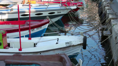 Fishing boats at the Marina Stock Footage