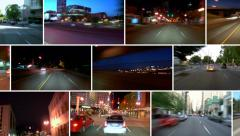 Video Montage City Driving Looping - stock footage