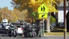 Sparks Middle School Shooting 10-21-13, Crime Scene Investigators Stock Footage