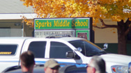 Stock Video Footage of Sparks Middle School Shooting 10-21-13, Crime Scene Investigators