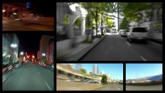Video Montage City Driving - stock footage