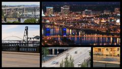 Video Montage Portland Bridges Stock Footage
