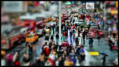 Video Montage Pedestrian Traffic Stock Footage