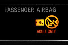 Stock Photo of Airbag sign