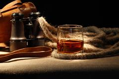still life with rum - stock photo