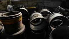 Steel Rims Stock Footage