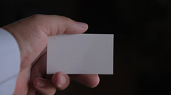 Business card in the hand.mp4 Stock Footage