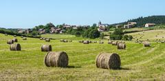 country landscape in aveyron (france) - stock photo