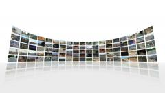 Video Wall Zoom Out (white) Stock Footage