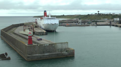 Rosslare Harbour, Co. Wexford, Ireland. - stock footage