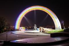 Rainbow monument - stock photo