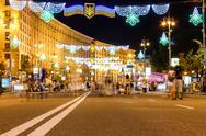 Stock Photo of night street