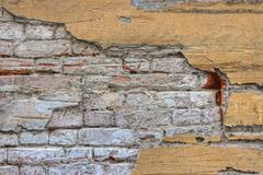 Grunge wall. abstract closeup brick wall background Stock Photos