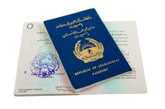republic of afghanistan passport - stock photo