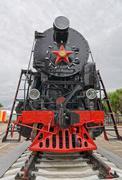 Ancient steam locomotive Stock Photos