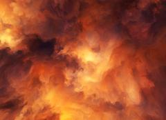 Stock Illustration of fire storm