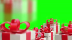 Holiday gifts falling down Stock Footage