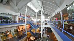Inside Pier 17 Mall Stock Footage
