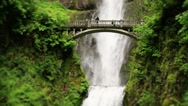 Stock Video Footage of Waterfalls Bridge Soft Focus
