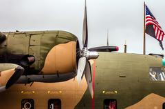 airplanes at the airshow - stock photo