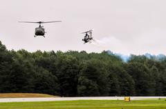 air transport at the airshow - stock photo