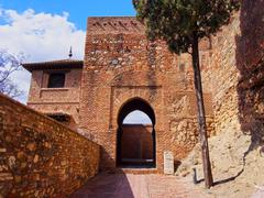 alcazaba in malaga, spain - stock photo