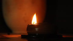 Candle in the dark Stock Footage