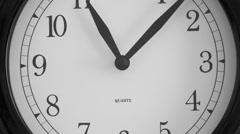 Black wall clock - Timelapse Stock Footage