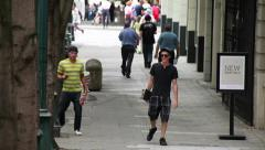 SKATEBOARD DUDES WALKING Stock Footage