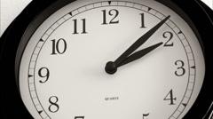 Black wall clock - Timelapse - stock footage