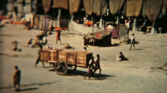 India Circa 1960 vintage market square HD 0079 Stock Footage