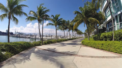 FPV footage of Miami Beach Marina Stock Footage