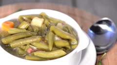 Rotating loopable Green Bean Soup Stock Footage