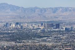 Las vegas strip and red rock canyon national conservation area Stock Photos