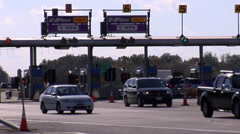American Toll Booth on Highway in New York Stock Footage