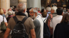 Group of tourists in jerusalem Stock Footage