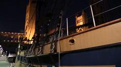 Tall ship Sacramento Stock Footage