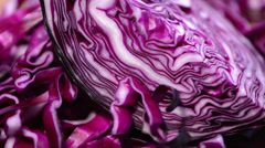 Rotating red coleslaw salad Stock Footage