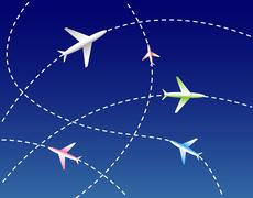 Airlines - stock illustration