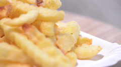 Loopable german currywurst Stock Footage