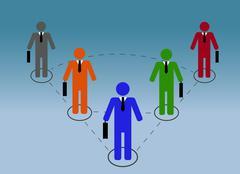 Business relationship Stock Illustration