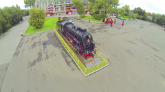 Square in front of Locomotive Stadium in Moscow, Russia. Stock Footage