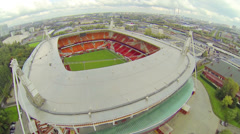 Empty seats on Locomotive Stadium in Moscow, Russia. Stock Footage