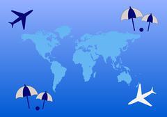 Tourism map Stock Illustration