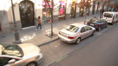 People walking on the streets during the day Stock Footage