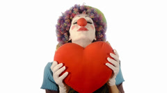 the heart of the clown - stock footage