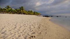 Sandy wide Beach Stock Footage