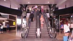 Escalator in working order Stock Footage