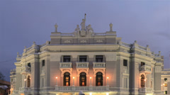 Ekaterinburg State Academic Opera and Ballet Theatre. Time Lapse Stock Footage
