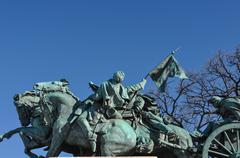Civil war statue in washington dc Stock Photos